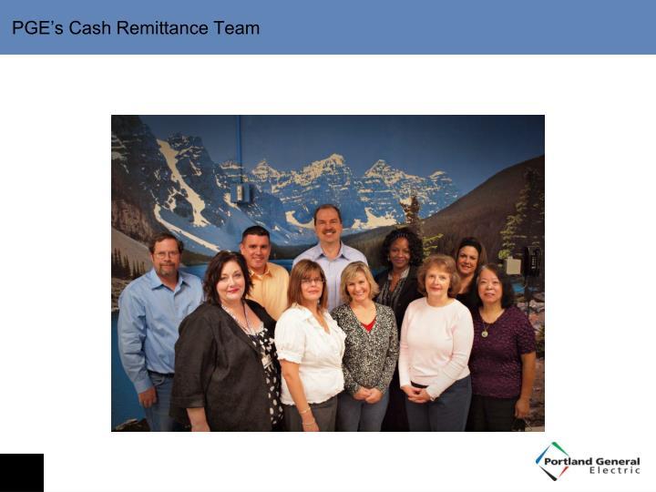 PGE's Cash Remittance Team