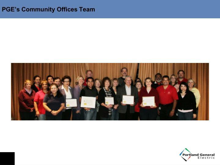 PGE's Community Offices Team