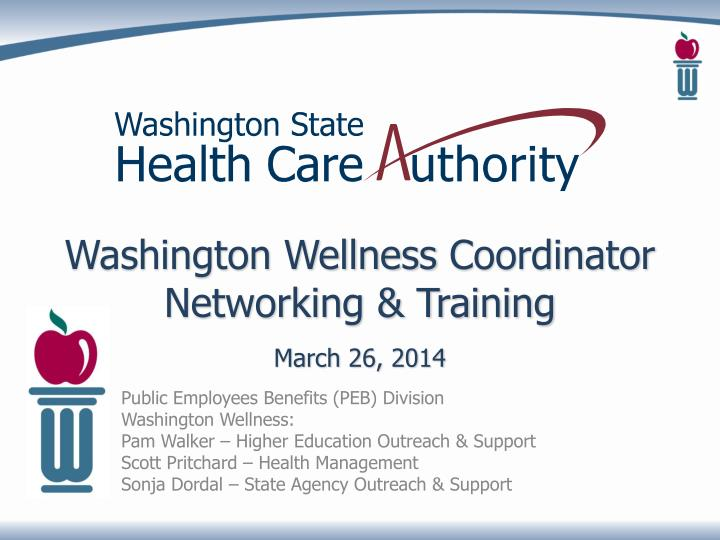 Washington wellness coordinator networking training march 26 2014