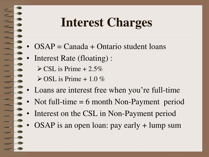 Interest Charges