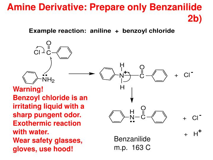 Amine Derivative: Prepare only Benzanilide 2b)