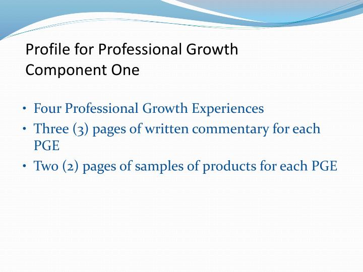 Profile for Professional Growth