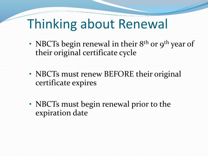Thinking about Renewal