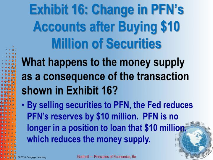 Exhibit 16: Change in PFN's Accounts after Buying $10 Million of Securities