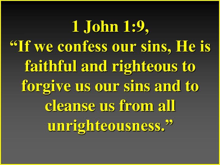 1 John 1:9,