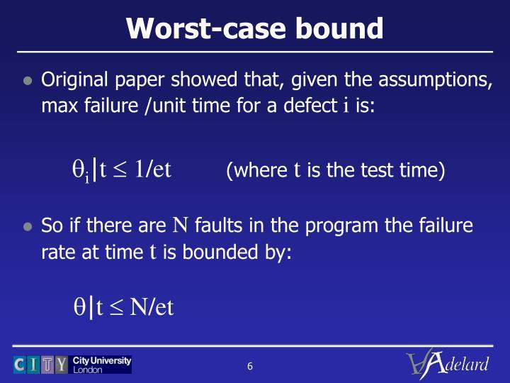 Worst-case bound