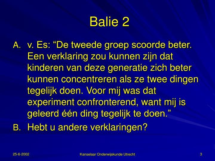 Balie 2