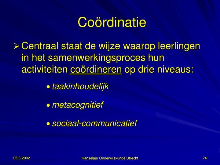Coördinatie