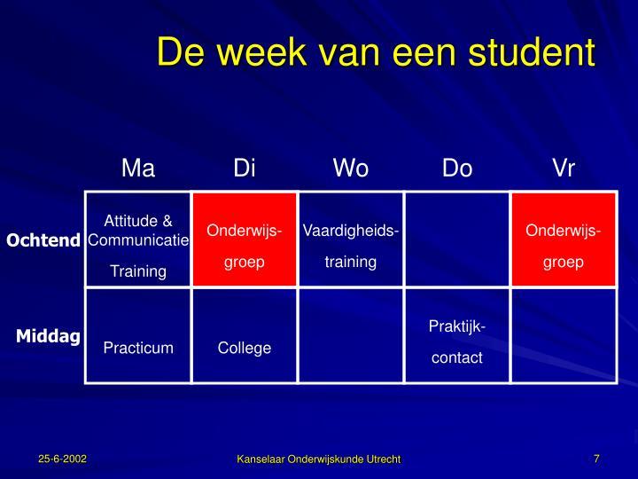 De week van een student