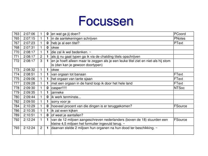 Focussen