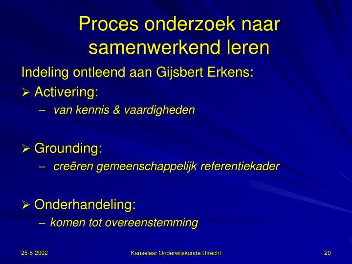 Proces onderzoek naar samenwerkend leren