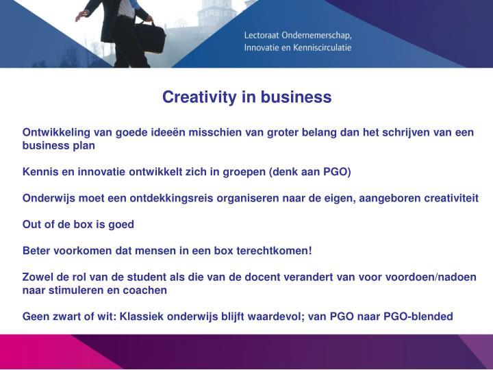 Creativity in business
