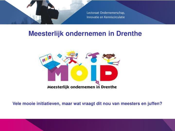 Meesterlijk ondernemen in Drenthe
