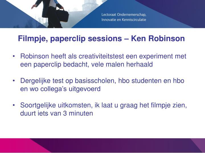 Filmpje, paperclip sessions – Ken Robinson