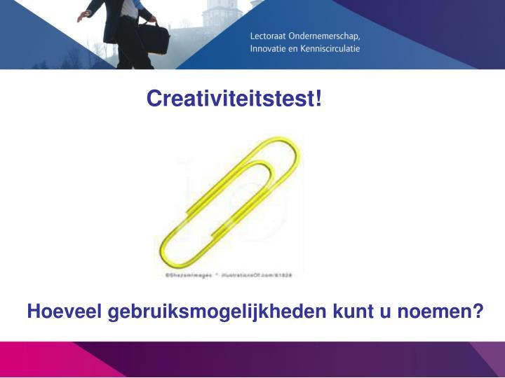 Creativiteitstest!