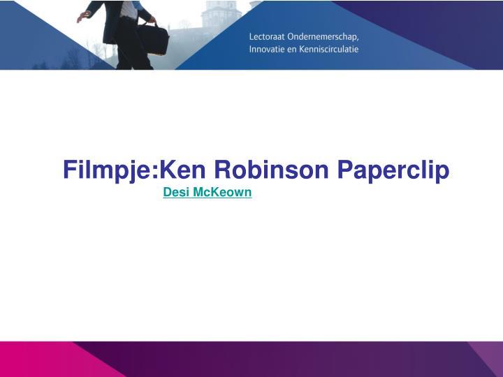 Filmpje:Ken Robinson Paperclip