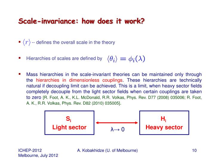 Scale-invariance: how does it work?