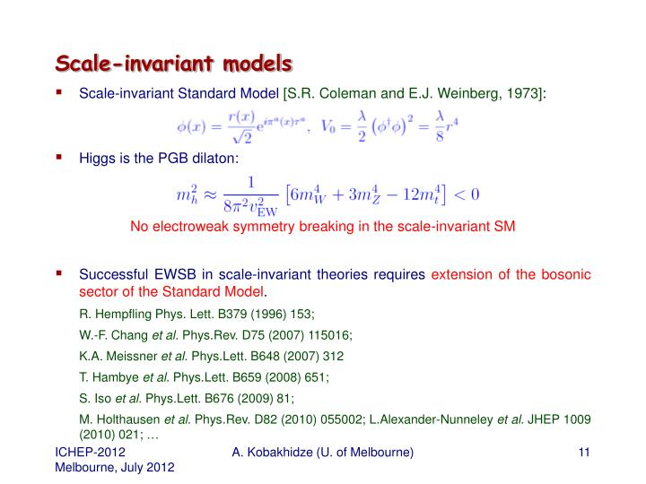Scale-invariant models