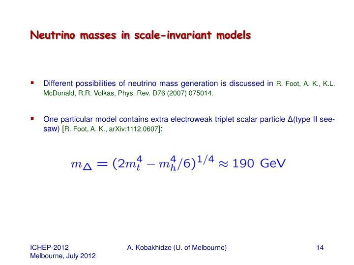 Neutrino masses in scale-invariant models