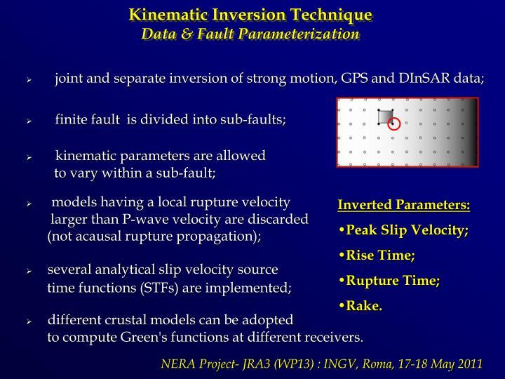 Kinematic Inversion Technique