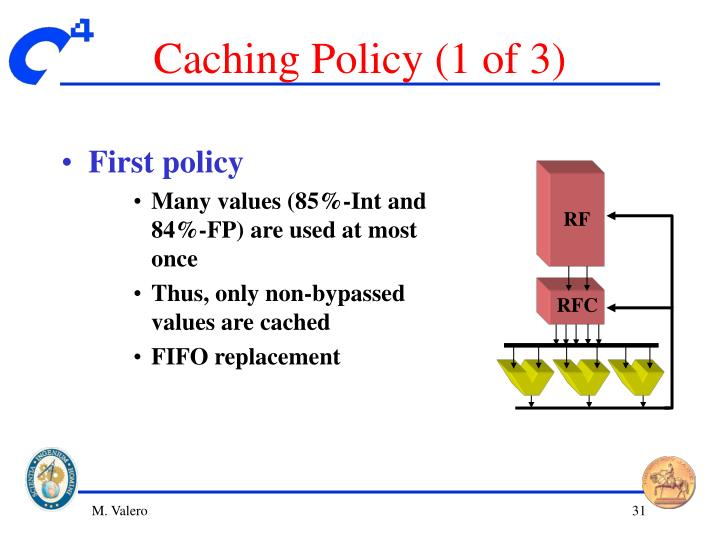 Caching Policy (1 of 3)