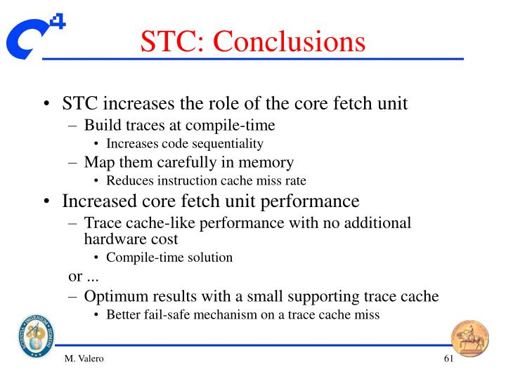 STC: Conclusions