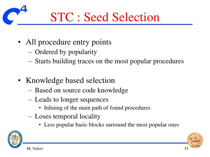 STC : Seed Selection