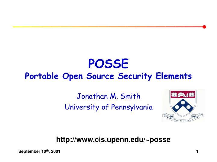 Posse portable open source security elements