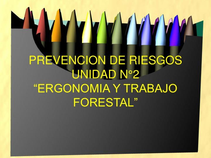 Prevencion de riesgos unidad n 2 ergonomia y trabajo forestal