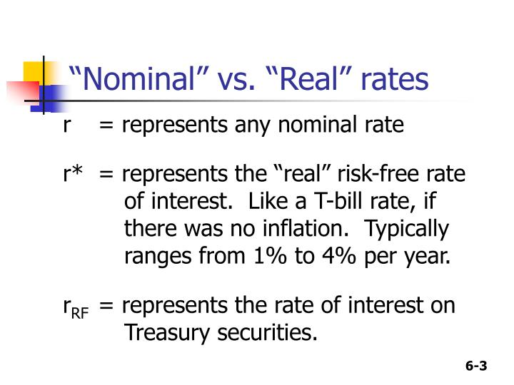 Nominal vs real rates