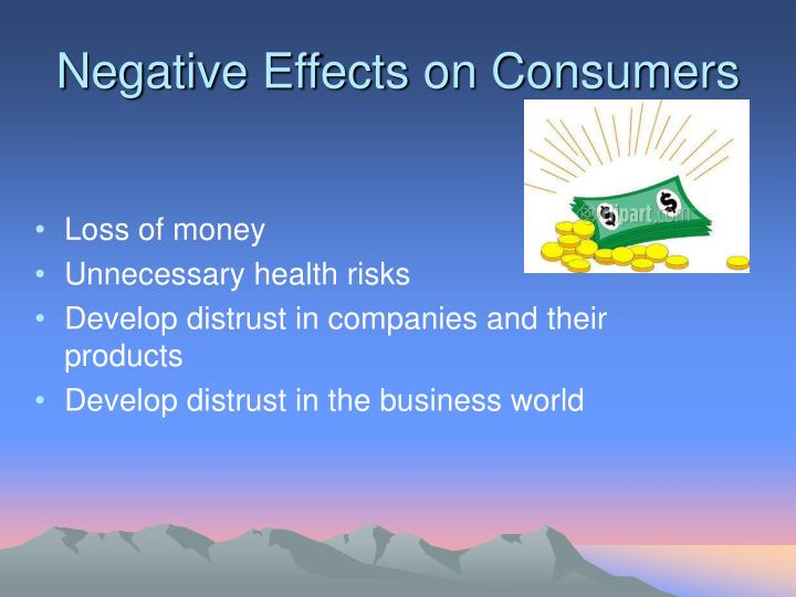 Negative Effects on Consumers