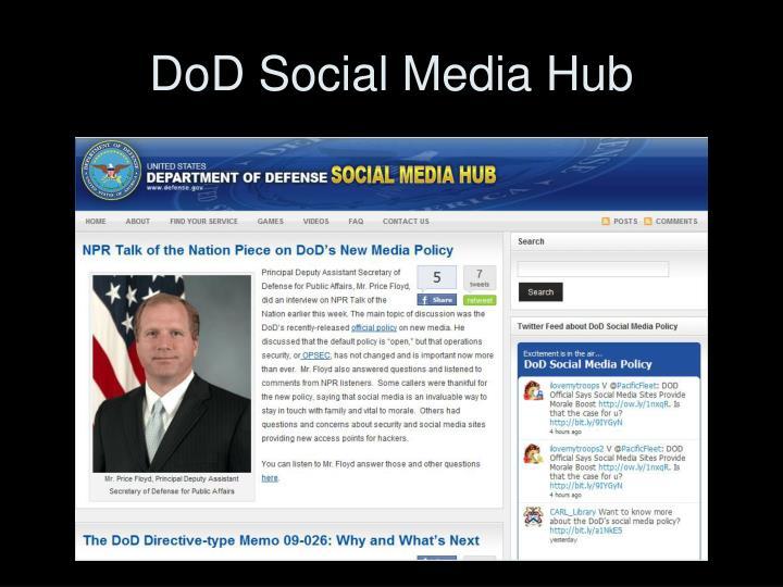 DoD Social Media Hub