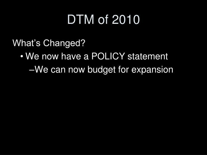 DTM of 2010
