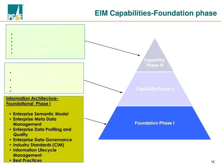 EIM Capabilities-Foundation phase