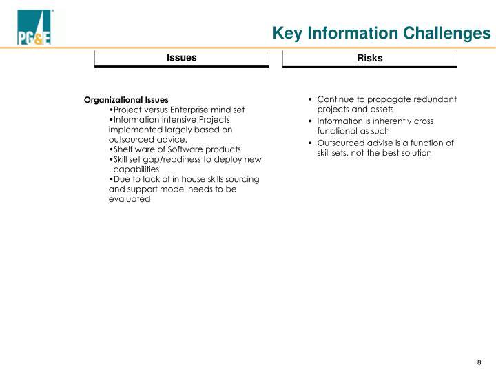 Key Information Challenges