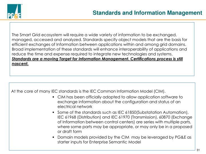 Standards and Information Management