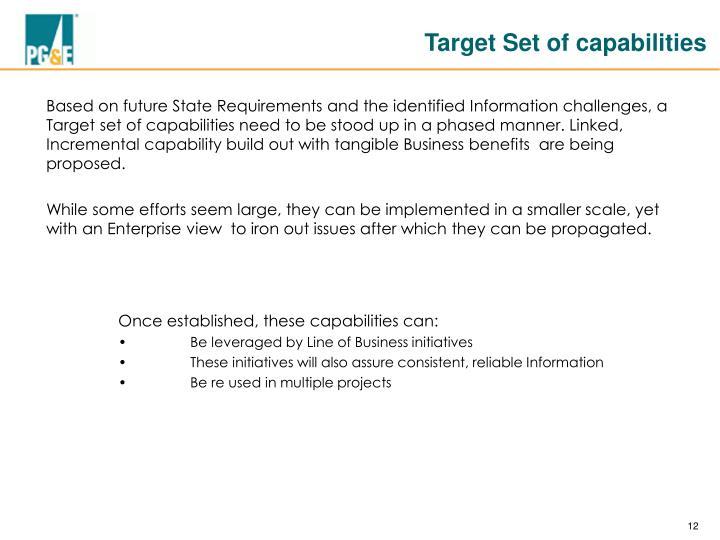 Target Set of capabilities