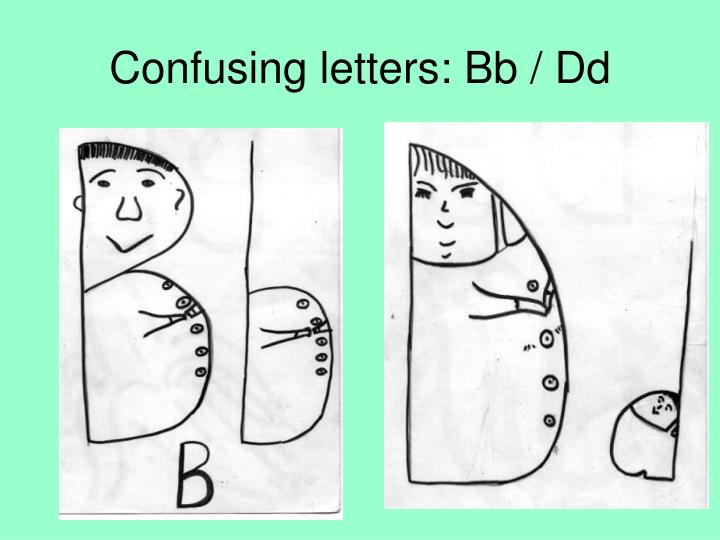 Confusing letters: Bb / Dd