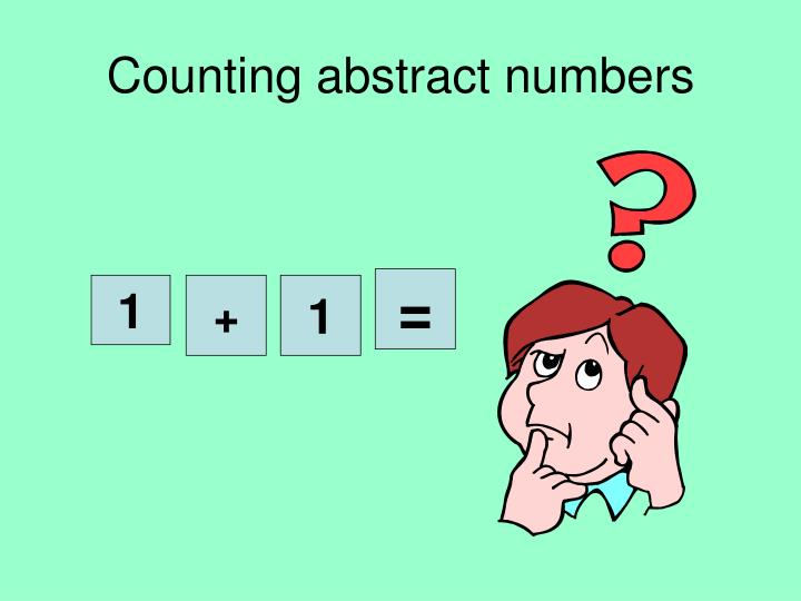 Counting abstract numbers