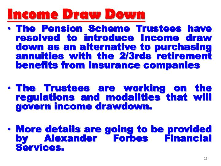 Income Draw Down