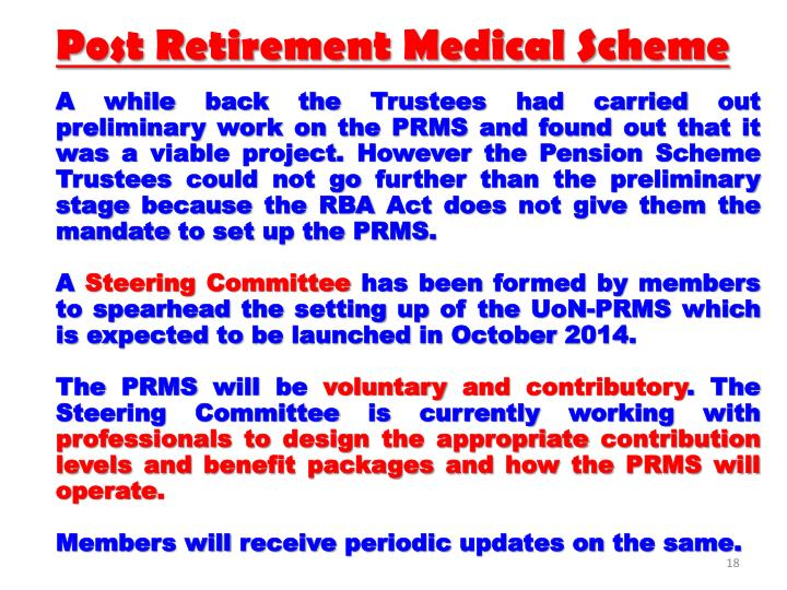 Post Retirement Medical Scheme