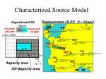 characterized source model