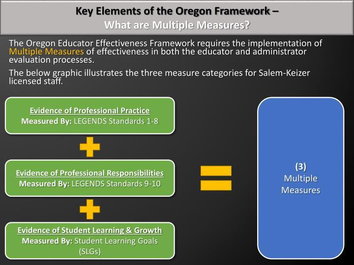 Key Elements of the Oregon Framework –