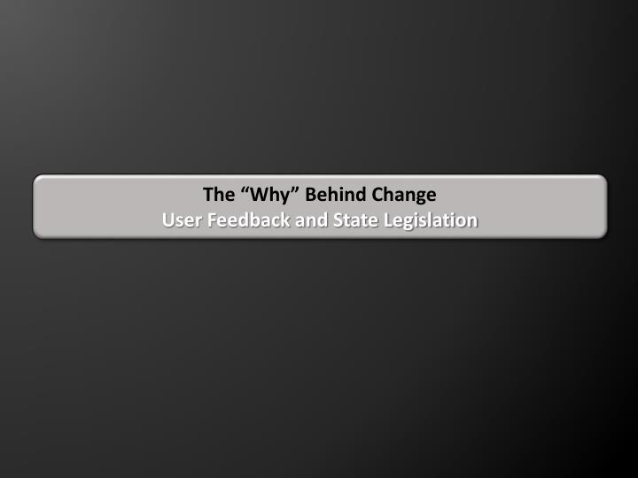 """The """"Why"""" Behind Change"""