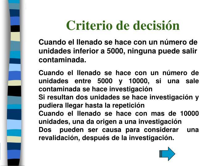 Criterio de decisión
