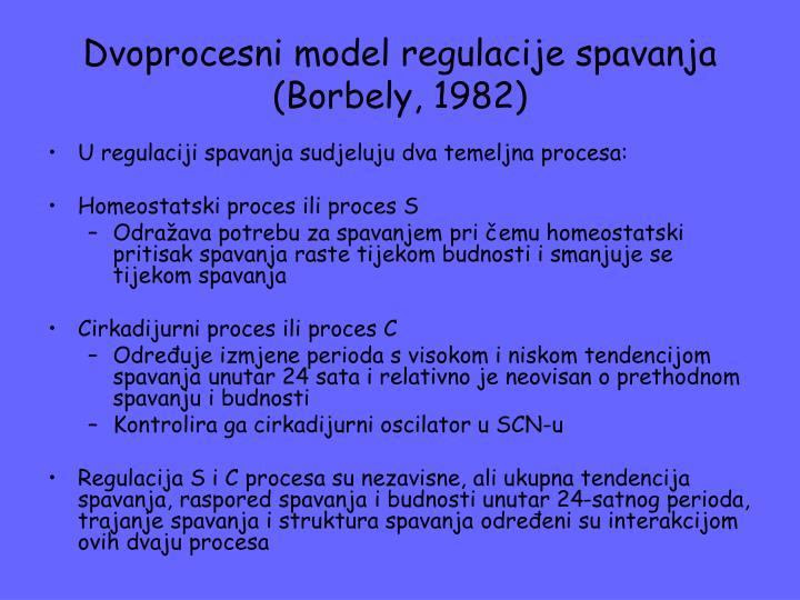 Dvoprocesni model regulacije spavanja (Borbely, 1982)