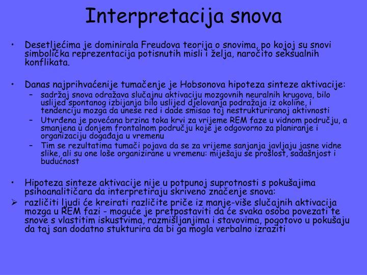 Interpretacija snova