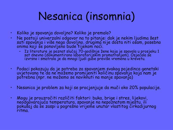 Nesanica (insomnia)