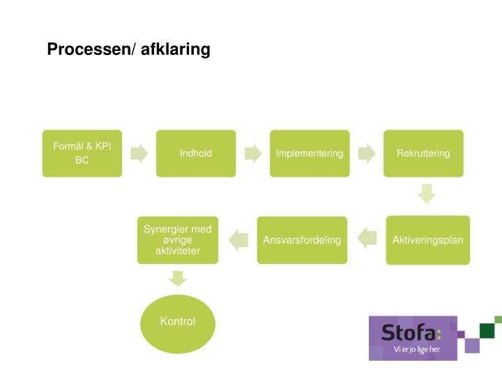Processen/ afklaring