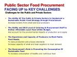 public sector food procurement facing up to key challenges